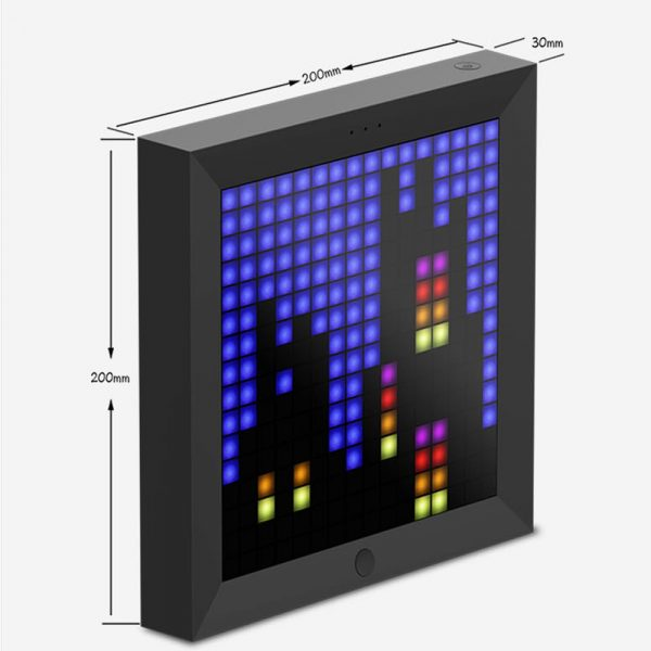 Pixel Bluetooth Photo Frame with Colorful LED Light Wall Clock_14