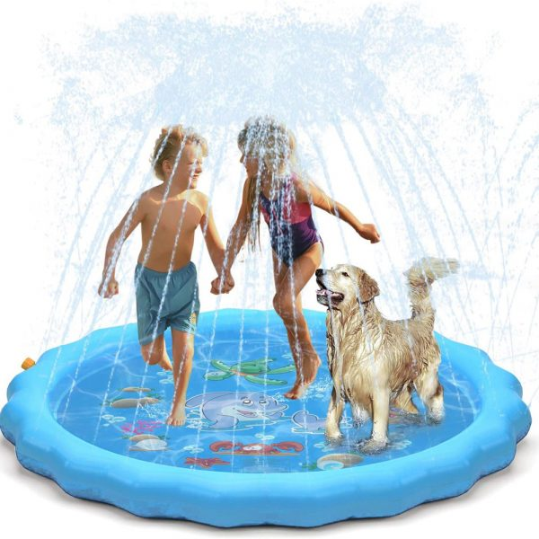 Durable Outdoor Inflatable Sprinkler Water Mat for Kids_0
