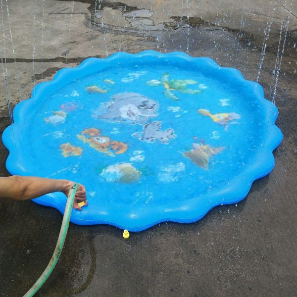 Durable Outdoor Inflatable Sprinkler Water Mat for Kids_2