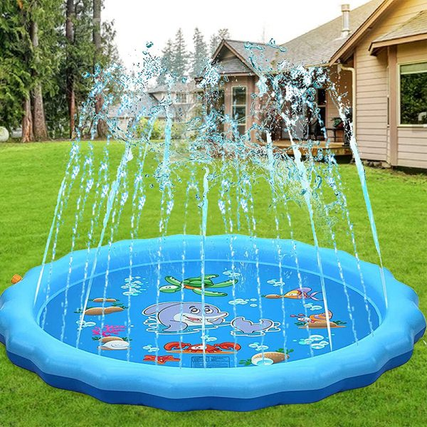 Durable Outdoor Inflatable Sprinkler Water Mat for Kids_3