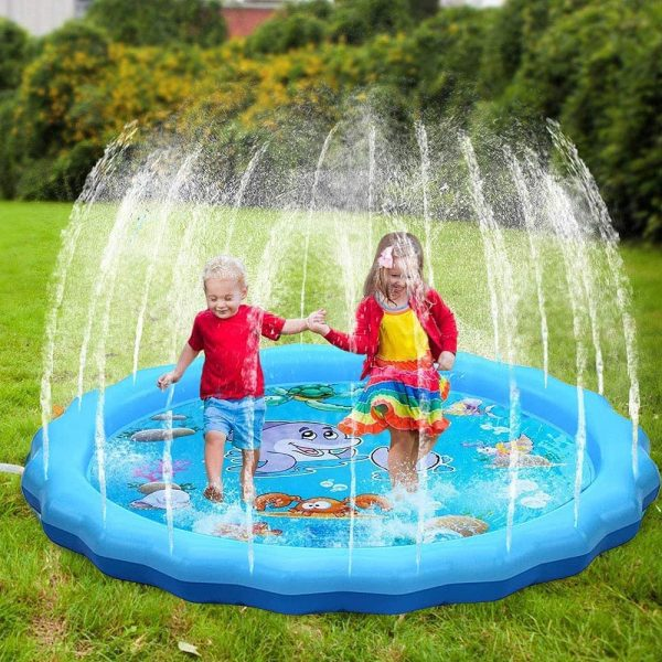 Durable Outdoor Inflatable Sprinkler Water Mat for Kids_4