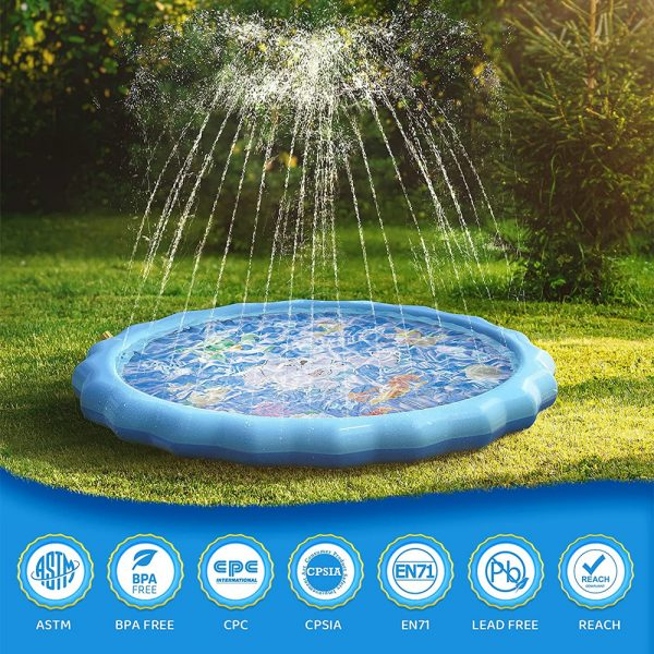 Durable Outdoor Inflatable Sprinkler Water Mat for Kids_6