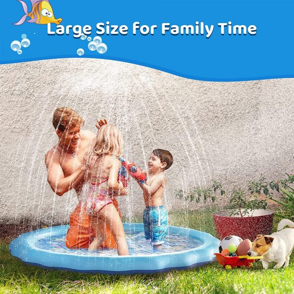 Durable Outdoor Inflatable Sprinkler Water Mat for Kids_10