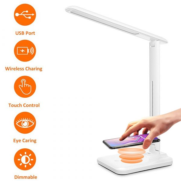 Multifunctional LED Desk Lamp with 5W Wireless Charging Function_4