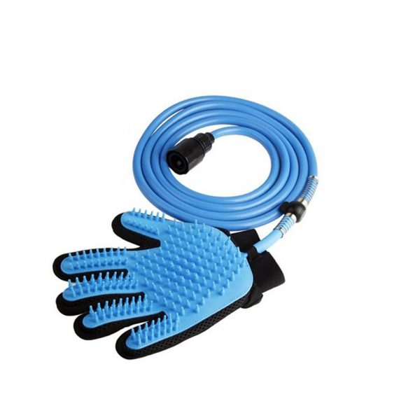3-in-1 Pet Bathing Tool Sprayer Massage Glove and Pet Hair Remover_3