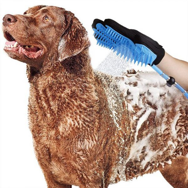 3-in-1 Pet Bathing Tool Sprayer Massage Glove and Pet Hair Remover_1