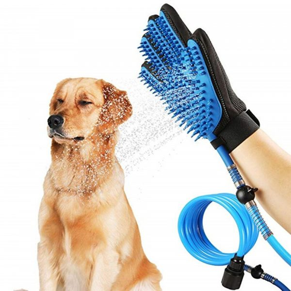 3-in-1 Pet Bathing Tool Sprayer Massage Glove and Pet Hair Remover_0