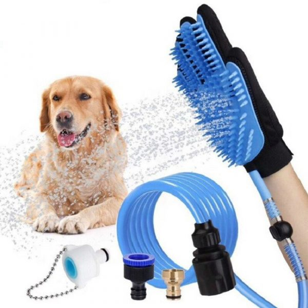 3-in-1 Pet Bathing Tool Sprayer Massage Glove and Pet Hair Remover_4