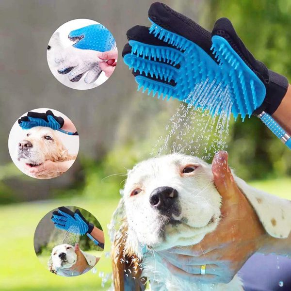 3-in-1 Pet Bathing Tool Sprayer Massage Glove and Pet Hair Remover_5