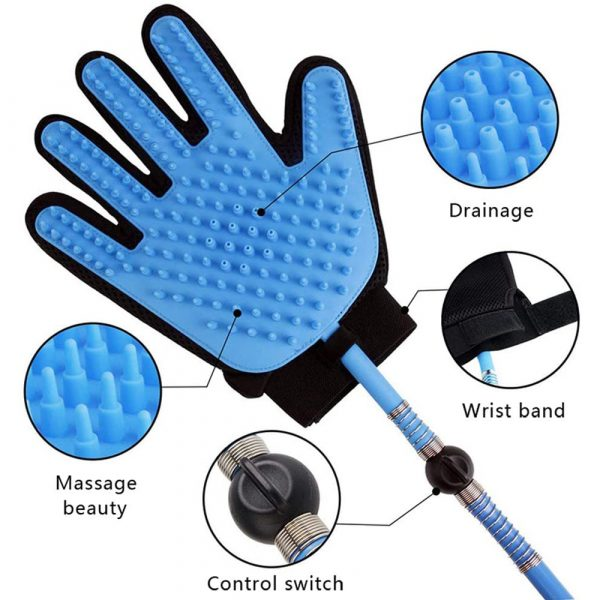 3-in-1 Pet Bathing Tool Sprayer Massage Glove and Pet Hair Remover_6