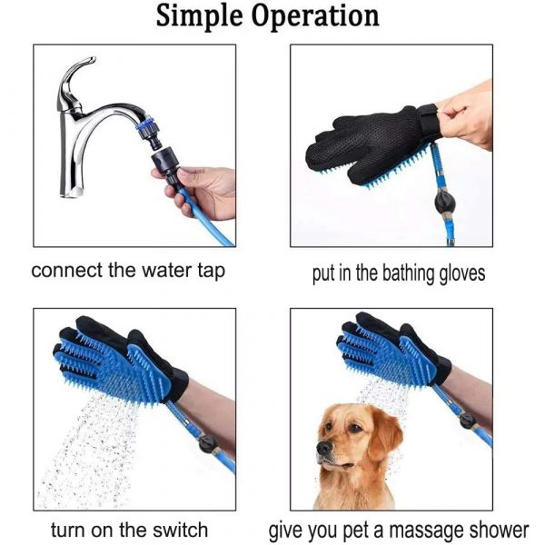 3-in-1 Pet Bathing Tool Sprayer Massage Glove and Pet Hair Remover_7