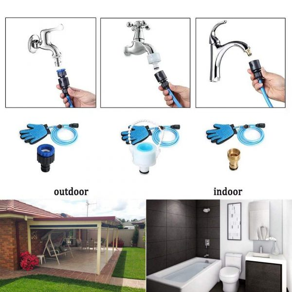 3-in-1 Pet Bathing Tool Sprayer Massage Glove and Pet Hair Remover_8