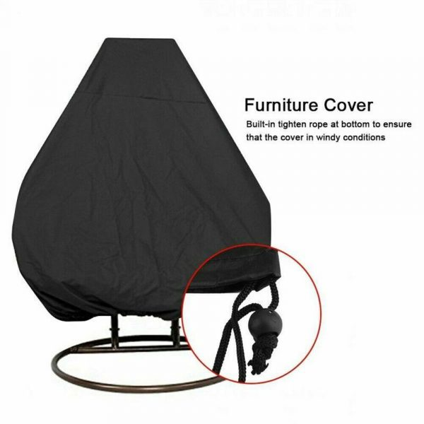 Polyester Fabric Hanging Rattan Egg Chair Protection Cover_4