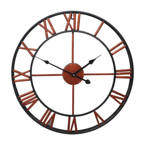 Roman Numeral Vintage Battery-Operated Antique Style Wall Clock_0