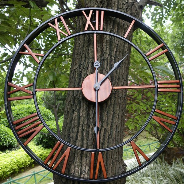 Roman Numeral Vintage Battery-Operated Antique Style Wall Clock_2