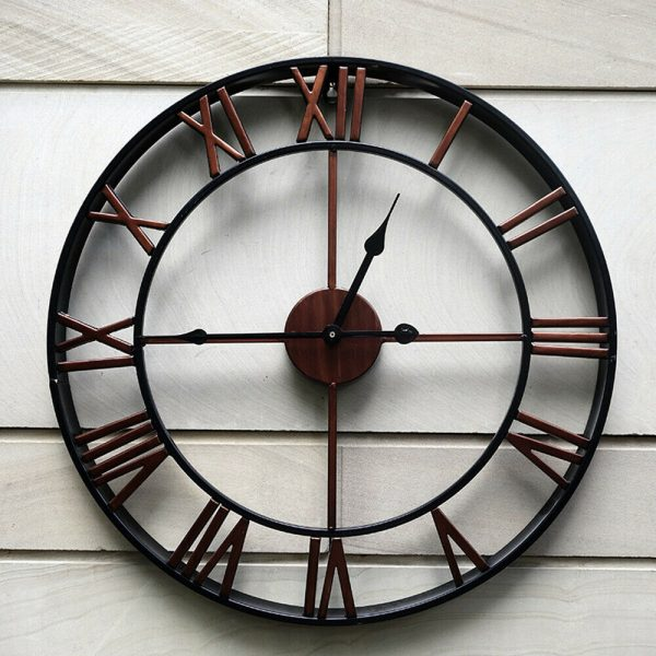 Roman Numeral Vintage Battery-Operated Antique Style Wall Clock_3