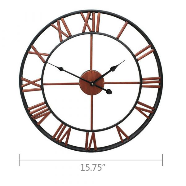 Roman Numeral Vintage Battery-Operated Antique Style Wall Clock_7