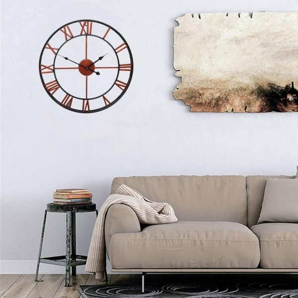 Roman Numeral Vintage Battery-Operated Antique Style Wall Clock_9