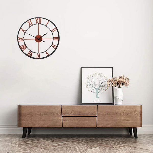 Roman Numeral Vintage Battery-Operated Antique Style Wall Clock_10