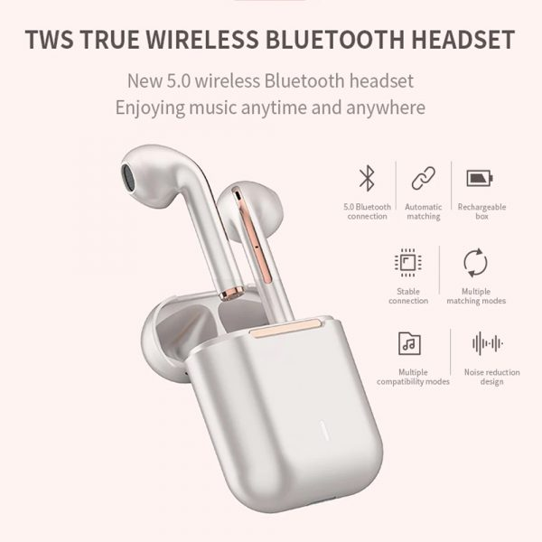 Bluetooth 5.0 Touch Control True Stereo Wireless Earphones_5