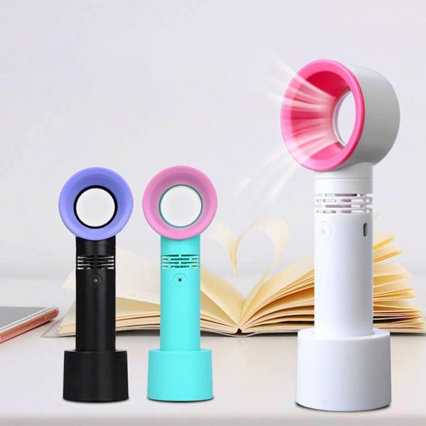 3 Speed Portable Bladeless Handheld Rechargeable Fan_3