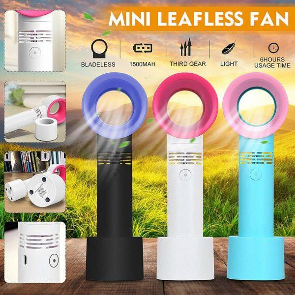 3 Speed Portable Bladeless Handheld Rechargeable Fan_6