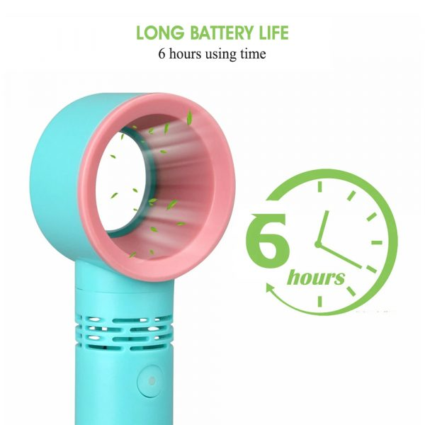 3 Speed Portable Bladeless Handheld Rechargeable Fan_9