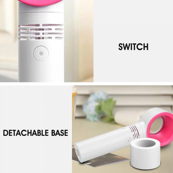 3 Speed Portable Bladeless Handheld Rechargeable Fan_11