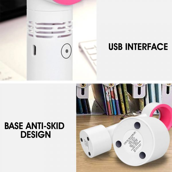 3 Speed Portable Bladeless Handheld Rechargeable Fan_12