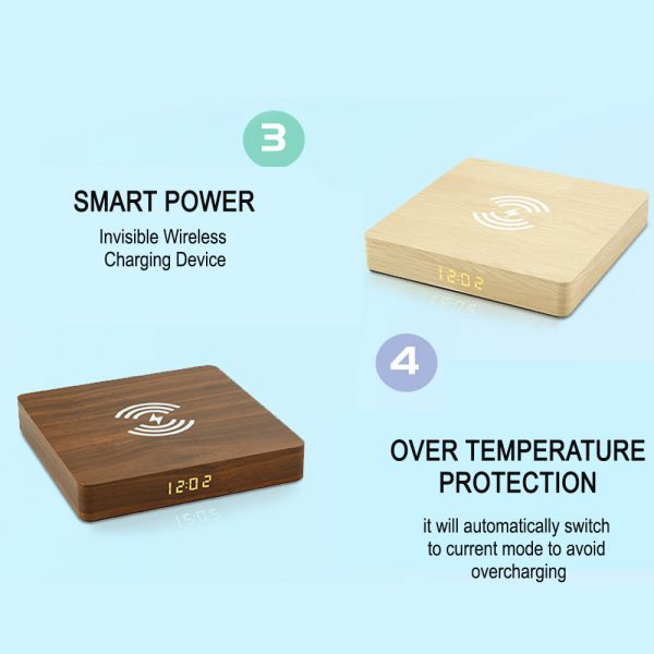 Portable Wireless Wooden Charging Pad and Digital Alarm Clock_10