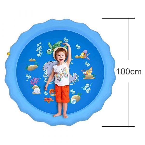 Durable Outdoor Inflatable Sprinkler Water Mat for Kids_5