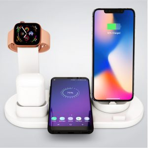 3-in-1 Wireless Charging Dock for QI Devices Phone Watch Earphones