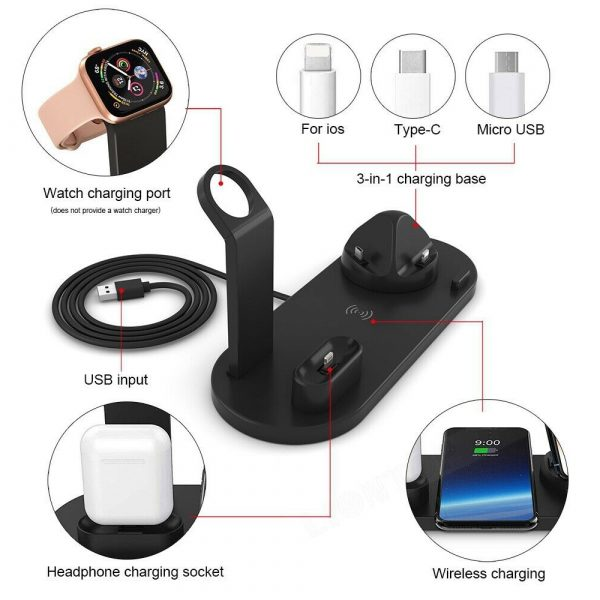 3-in-1 Wireless Charging Dock for QI Devices Phone Watch Earphones_5