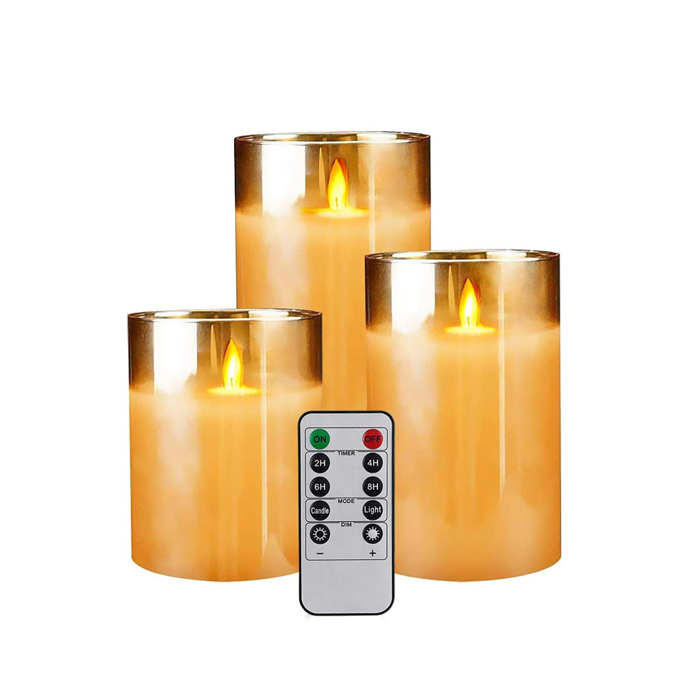 Flameless Flickering Rechargeable LED Wickless Candle_0