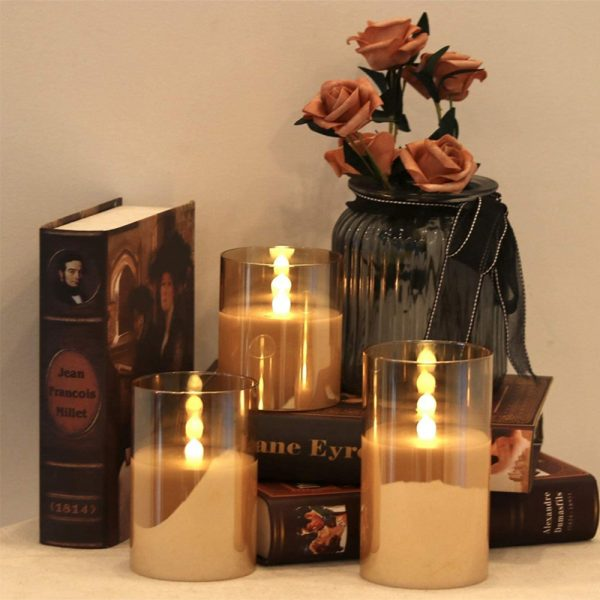 Flameless Flickering Rechargeable LED Wickless Candle_2