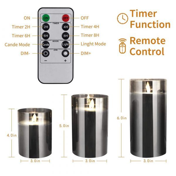 Flameless Flickering Rechargeable LED Wickless Candle_8
