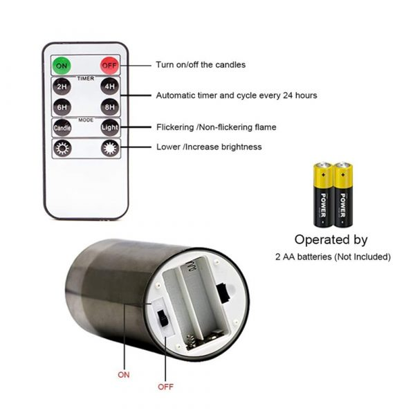 Flameless Flickering Rechargeable LED Wickless Candle_9