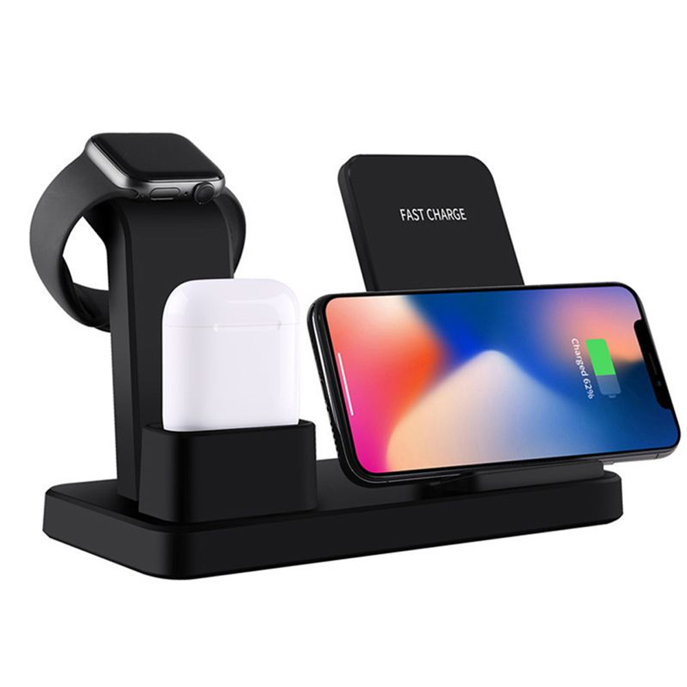3-in-1 Fast Charging Wireless Mobile Phone Charging Station_0