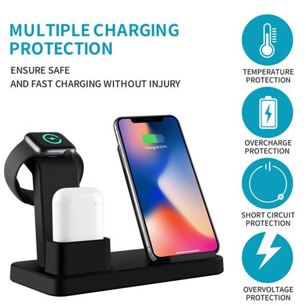 3-in-1 Fast Charging Wireless Mobile Phone Charging Station_4