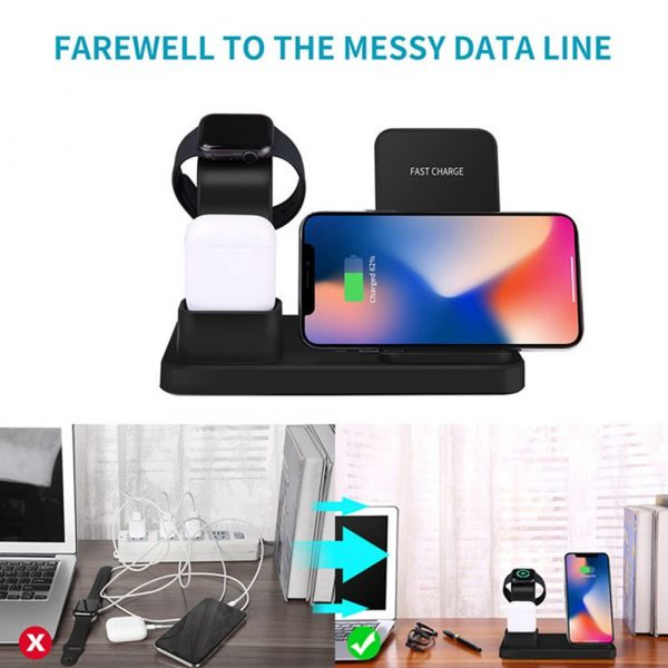 3-in-1 Fast Charging Wireless Mobile Phone Charging Station_5