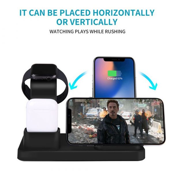 3-in-1 Fast Charging Wireless Mobile Phone Charging Station_6