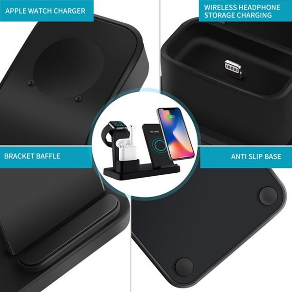 3-in-1 Fast Charging Wireless Mobile Phone Charging Station_7
