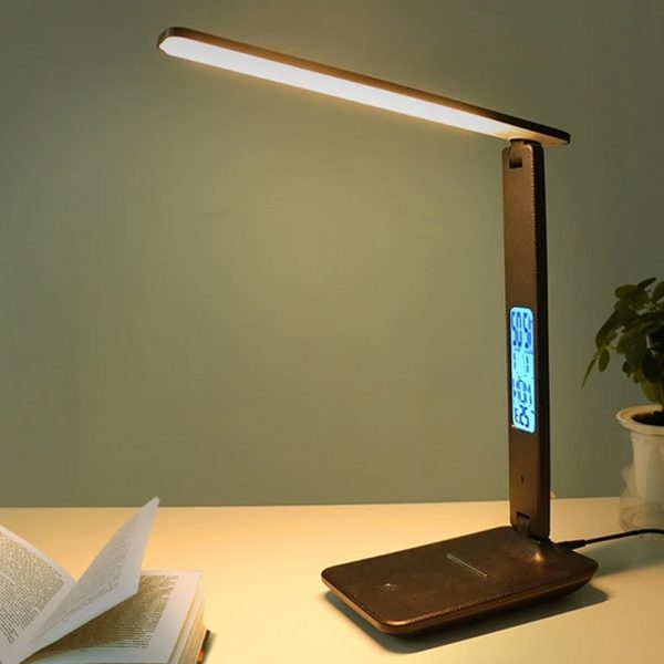Foldable and Dimmable Wireless LED Desk Lamp and Digital Clock_3
