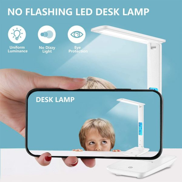 Foldable and Dimmable Wireless LED Desk Lamp and Digital Clock_6