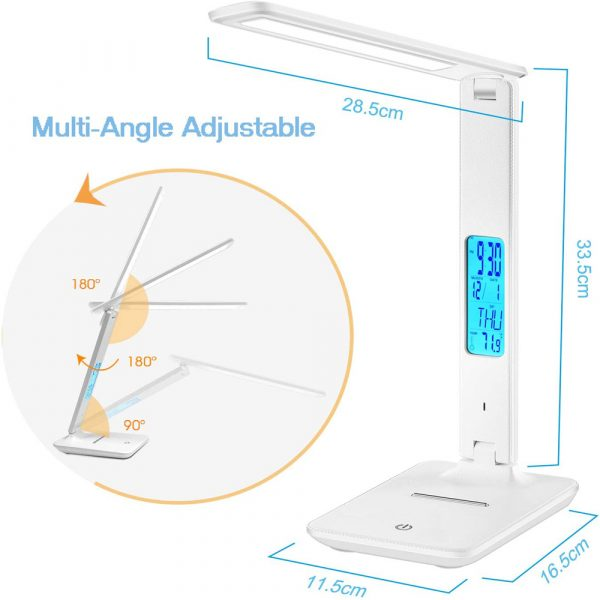Foldable and Dimmable Wireless LED Desk Lamp and Digital Clock_7