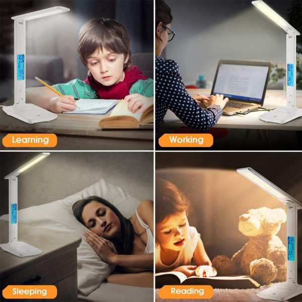 Foldable and Dimmable Wireless LED Desk Lamp and Digital Clock_11