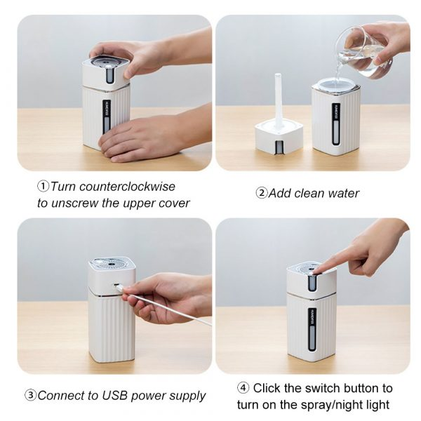 300ml Ultrasonic Electric Humidifier Cool Mist Aroma Diffuser_13