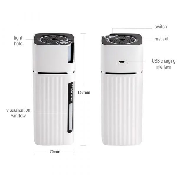 300ml Ultrasonic Electric Humidifier Cool Mist Aroma Diffuser_12