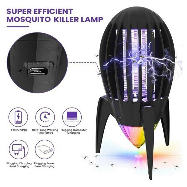Electronic Mosquito Killer RGB Light Combined with UV Light_7