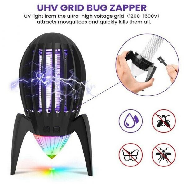 Electronic Mosquito Killer RGB Light Combined with UV Light_8